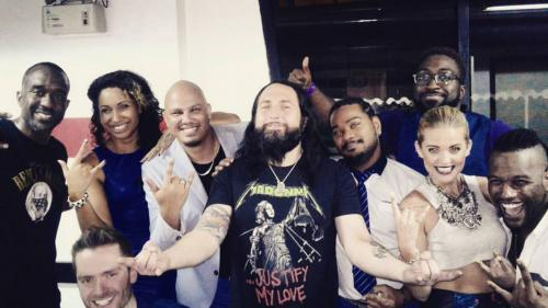 "Backstage with Brian Frasier-Moore and Monte Pittman, straight from Madonna´s ""Rebel Heart Tour"". Bangkok, Thailand"